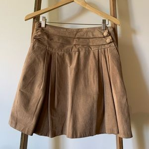 Anthropologie Suede Leather Skirt by Wendy Katlen